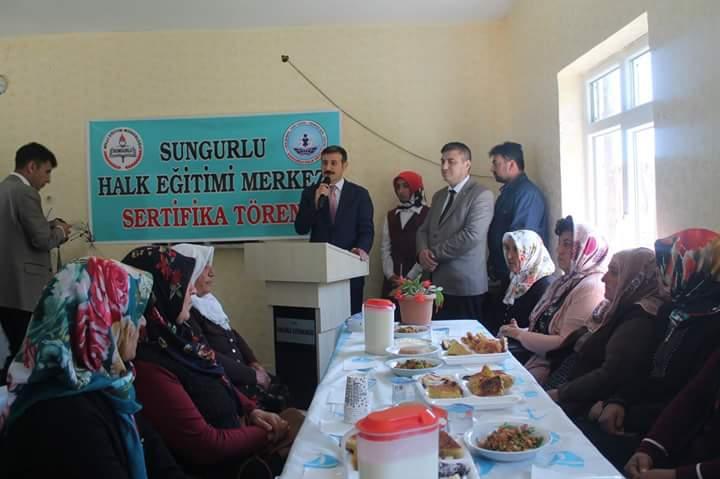 İlçe Halk Eğitim Müdürlüğü, İlçe Tarım Müdürlüğü ve İşKur İl Müdürlüğü tarafından düzenlenen mantar yetiştiriciliği kursu sona erdi. | Sungurlu Haber