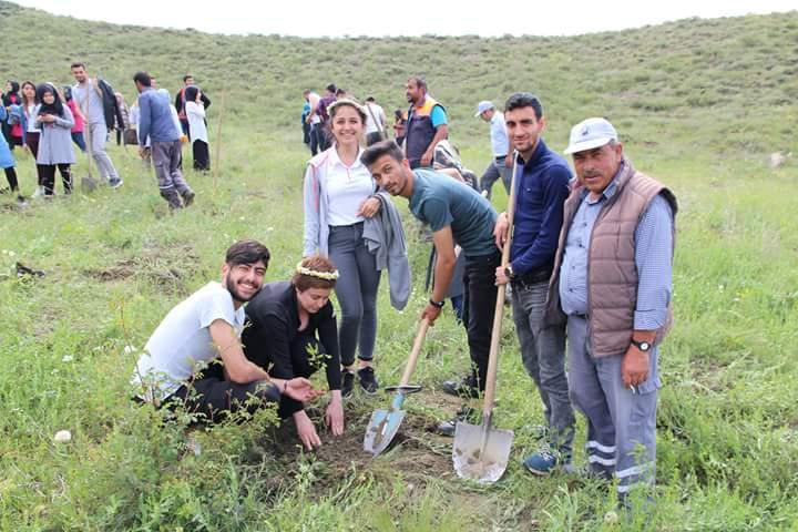 Hitit Üniversitesi Sungurlu Meslek Yüksekokulu Öğretim Görevlisi Nihal Gökçe ve öğrencileri, Belediye Başkanlığımız tarafından temin edilen meşe ağaçlarını ekiplerimizle birlikte toprakla buluşturdu. | Sungurlu Haber