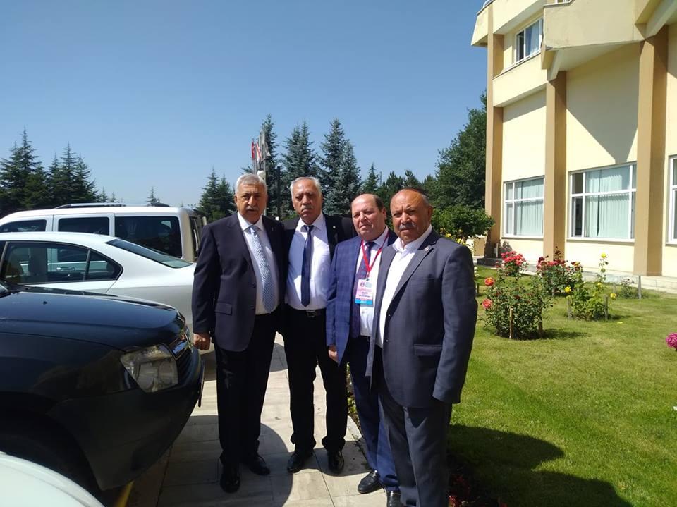 Sungurlu Bakkallar ve Bayiiler Esnaf odası Başkanı Osman Aşutoğlu ve yönetim kurulu üyeleri Türkiye Bakkallar ve Bayiiler Federasyonu'nun olağan genel kurul toplantısına katıldılar. | Sungurlu Haber