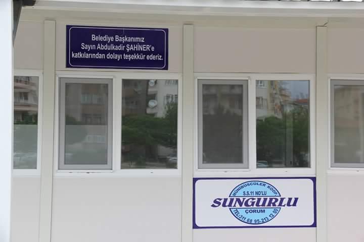 Sungurlu-Çorum Minibüsçüler yeni duraklarıyla hizmetlerine devam ediyor. | Sungurlu Haber