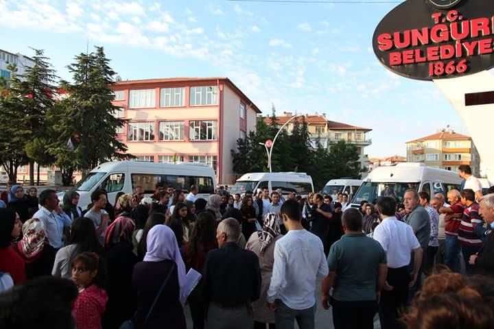 Yüksek Öğretim Kurumları (YKS) sınavına girecek olan öğrencilerin yol ücretleri Sungurlu Belediyesi tarafından karşılandı | Sungurlu Haber