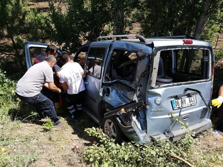 Edinilen bilgilere göre kaza Sungurlu-Çorum karayolu bağlar mevkinde meydana geldi. | Sungurlu Haber