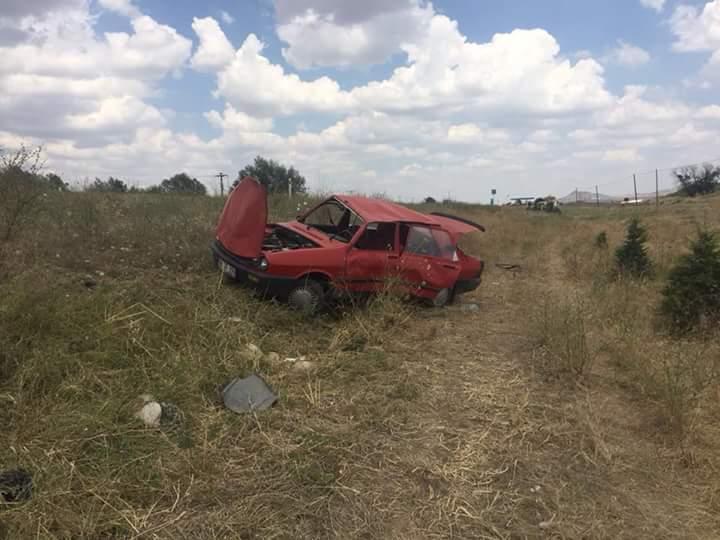 Otomobil Takla Atıp Şarampole Devrildi : 1 Yaralı | Sungurlu Haber