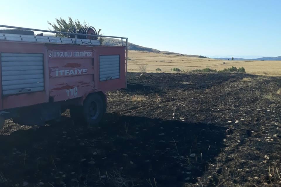 Yangın Ormanlık Alana Sıçramadan Söndürüldü | Sungurlu Haber
