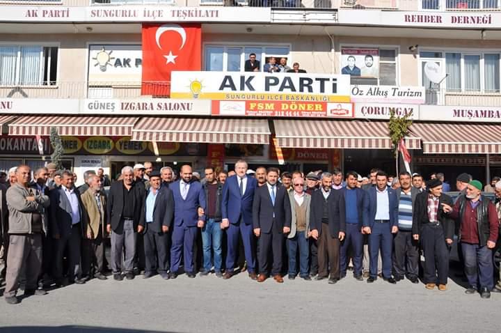 Ak Parti İl Genel Meclisi Üyesi Ramazan Kelepircioğlu, 31 Mart 2019'da yapılacak olan yerel seçimler için Ak Parti'den Sungurlu Belediye Başkan Aday Adaylığını yoğun bir kalabalık eşliğinde açıkladı. | Sungurlu Haber